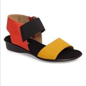 Sesto Meucci Leather Color Block Eirlys Sandal 9